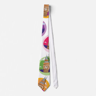 Torre de reloj de Big Ben Westminster Corbatas Personalizadas