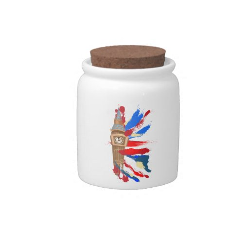 Torre de reloj de Big Ben Westminster Jarra Para Caramelo