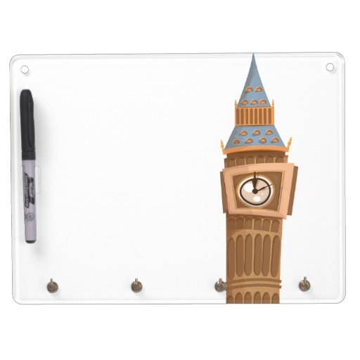 Torre de reloj de Big Ben Westminster Pizarra Blanca