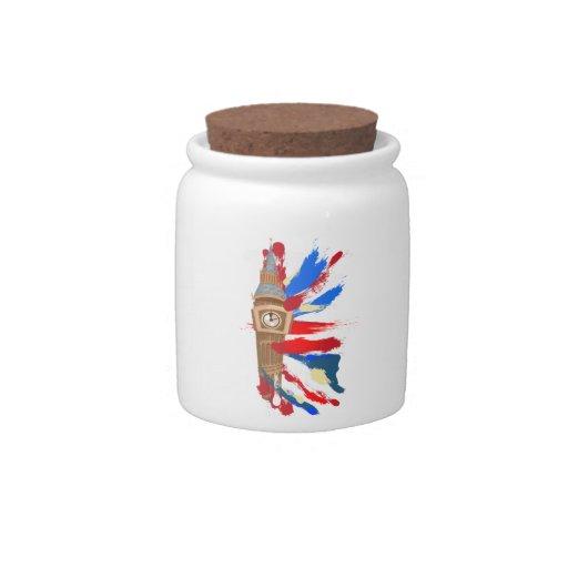 Torre de reloj de Big Ben Westminster Tarro De Cerámica Para Dulces