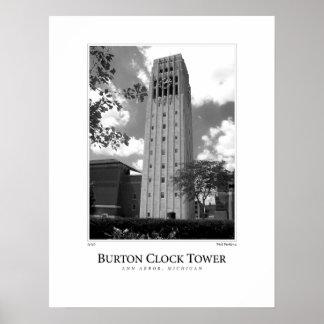 Torre de reloj de Burton Posters