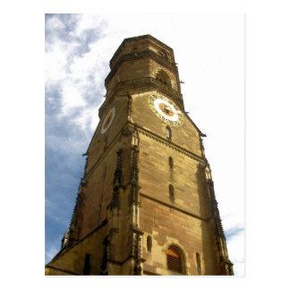 Torre de reloj de la iglesia - Stuttgart, Alemania Tarjeta Postal