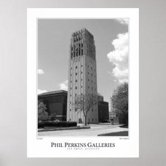 Torre de reloj de la Universidad de Michigan Poster