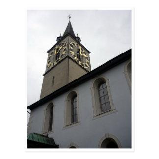 torre de reloj de San Pedro Tarjeta Postal