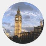 Torre de reloj pegatina