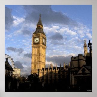 Torre de reloj póster