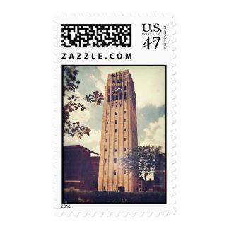 Torre de reloj timbre postal