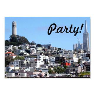 """Torre de San Francisco Coit Invitación 5"""" X 7"""""""