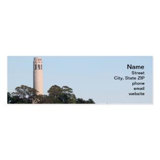 Torre de San Francisco Coit Tarjetas De Visita Mini