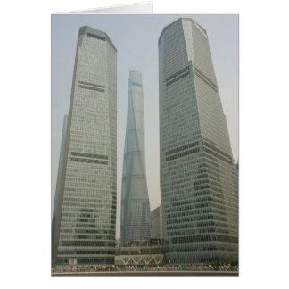 Torre de Shangai - Lujiazui, Pudong - Shangai, Tarjeta De Felicitación