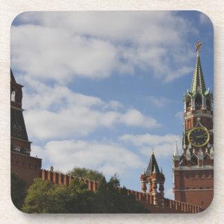 Torre de Spasskaya en la Plaza Roja, Moscú, Rusia Posavasos De Bebida