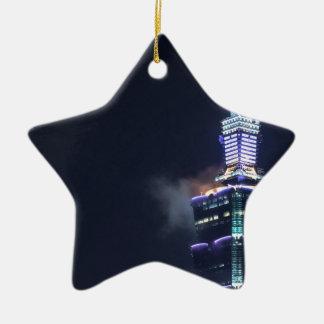 Torre de Taipei 101 en Taiwán, primer Adorno Navideño De Cerámica En Forma De Estrella