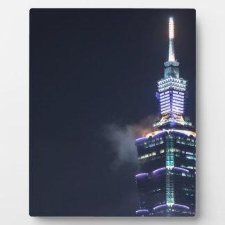 Torre de Taipei 101 en Taiwán, primer Placas Con Fotos