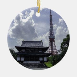 Torre de Tokio Adorno Redondo De Cerámica