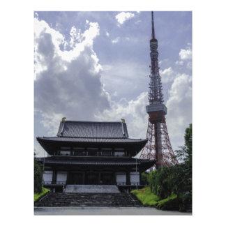 Torre de Tokio Membrete Personalizado