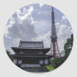 Torre de Tokio Pegatina Redonda