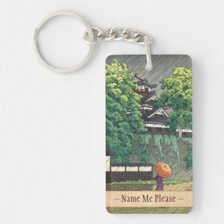 Torre de Udo, castillo de Kumamoto (Kumamoto-jô Ud Llavero Rectangular Acrílico A Doble Cara