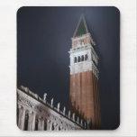 Torre de Venecia San Marco en la noche Alfombrilla De Ratón