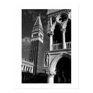 Torre de Venecia San Marco y palacio del dux Tarjetas Postales