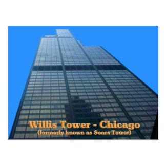 Torre de Willis - conocida antes como el Torre Sea Tarjeta Postal