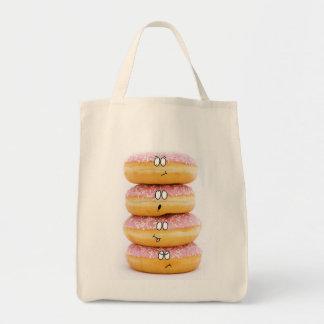 torre del bolso rosado de los caracteres del buñue bolsa tela para la compra