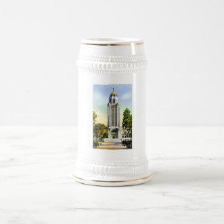 Torre del capitolio del estado, Lincoln, Nebraska Jarra De Cerveza