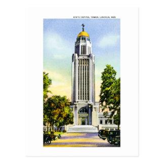 Torre del capitolio del estado, Lincoln, Nebraska Postales