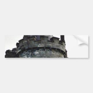 Torre del castillo pegatina de parachoque