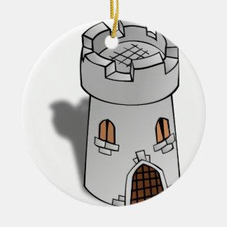 Torre del castillo adorno de reyes