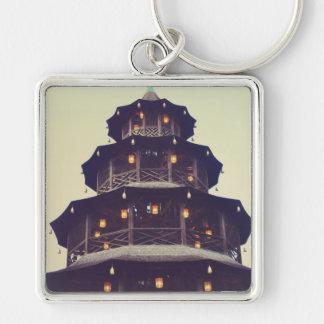 Torre del chino de Munich Llaveros
