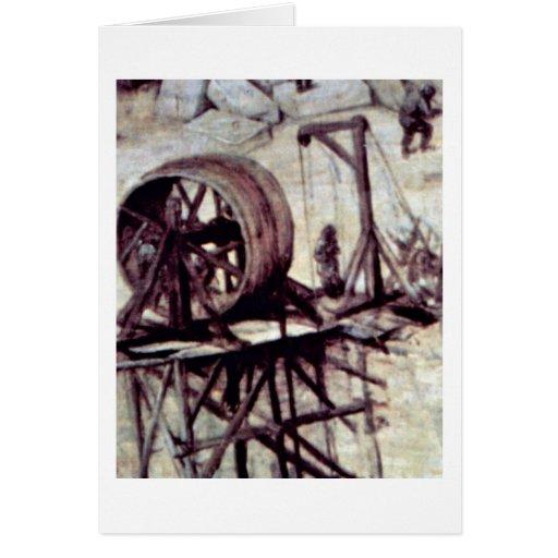 Torre del detalle de Babel por Bruegel A. Pieter Tarjeta De Felicitación
