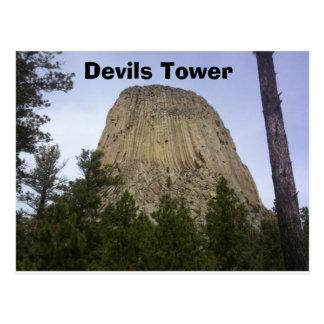 Torre del diablo tarjeta postal