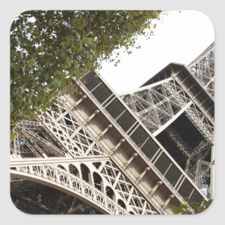 torre del eifel, amor, París, Francia Pegatina Cuadrada