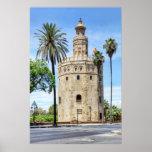 Torre del Oro en el poster de Sevilla