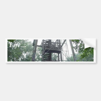 Torre del parque de Wisconsin Etiqueta De Parachoque