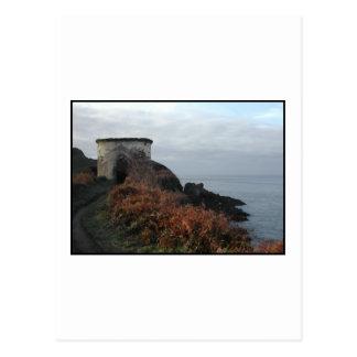 Torre del puesto de observación de la madriguera tarjeta postal