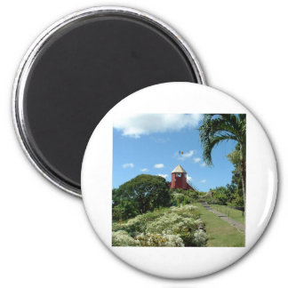 Torre del puesto de observación en Barbados Imán Redondo 5 Cm