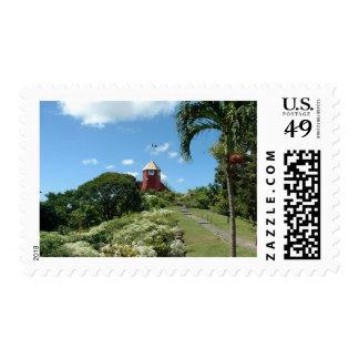 Torre del puesto de observación en Barbados Sellos