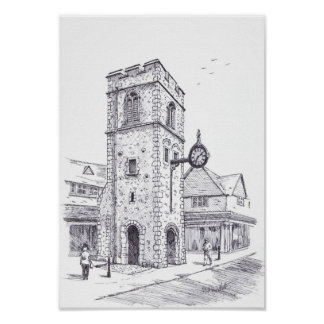Torre del reloj de San Jorge Posters