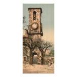 Torre del reloj en el Chevalier de Mont, Francia Tarjeta Publicitaria