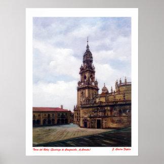 Torre del Reloj (Santiago de Compostela. A Coruña) Póster