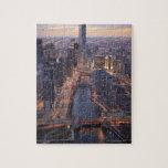 Torre del río Chicago y del triunfo desde arriba Rompecabeza Con Fotos
