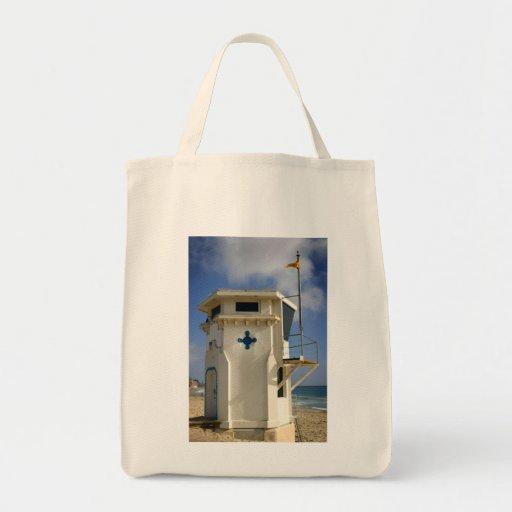 Torre del salvavidas bolsa lienzo