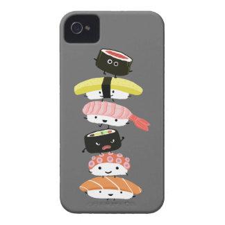 Torre del sushi - amigos del sushi de Kawaii iPhone 4 Carcasas