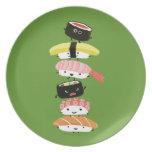 Torre del sushi - amigos felices del sushi de Kawa Plato De Comida