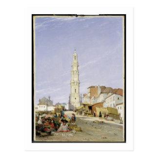 Torre dos Clerigos, Oporto, Portugal, 1837 (oil on Postcard