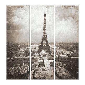 Torre Eiffel 1900 de Universelle de la exposición Lona Envuelta Para Galerias
