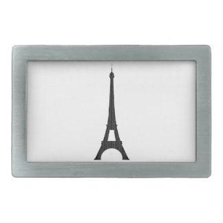 Torre Eiffel #4 Hebillas Cinturón Rectangulares