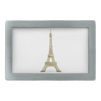 Torre Eiffel #8 Hebillas De Cinturon Rectangulares