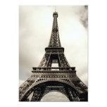 Torre Eiffel 8 Invitación 12,7 X 17,8 Cm